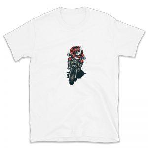 Kalėdų Senelis ant motociklo